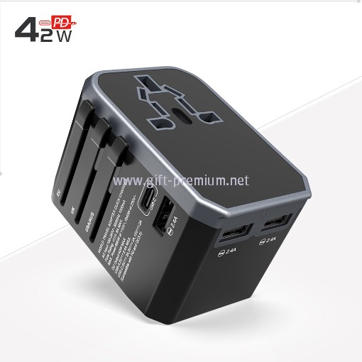 Type C + 3 USB Travel Adapter (